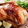 Menú de pollo asado y croquetas