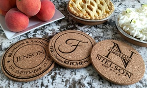 American Laser Crafts: One, Two, Four, or Six Personalized Kitchen Hot Pads from American Laser Crafts (Up to 72% Off)