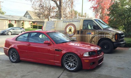 A Full-Service Car Wash with Interior Cleaning and Tire Dressing at Detail Wagon (55% Off)