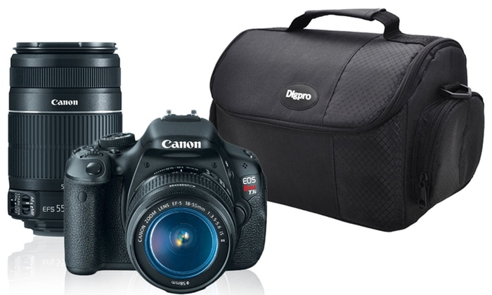 Canon Rebel T3i Digital SLR Camera 2 Lens Bundle: Canon EOS Rebel T3i Digital SLR Camera 2 Lens Photo Enthusiast Bundle. Free Returns.