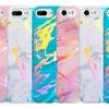 Lightning Slim Shiny Glitter Colorful Marble Slab TPU Case for iPhone