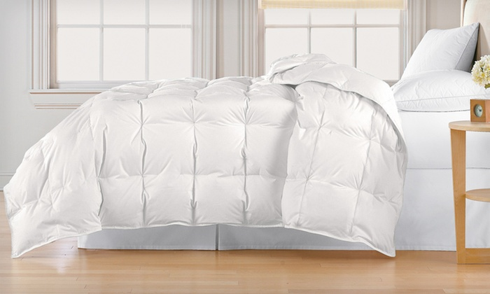 All-Seasons White-Down Comforter: All-Seasons White-Down 100% Cotton Comforter (Up to 67% Off). Nine Colors Available. Free Shipping and Free Returns.