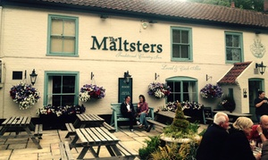 The Maltsters: Two-Course Meal with Coffee for Up to Four at The Maltsters (56% Off)