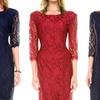 Women's Plus Size Lace Cocktail Dress