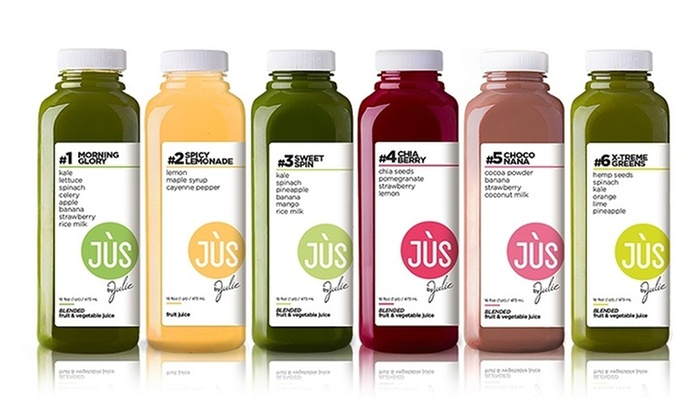 Jus by Julie: One or Two Three-Day Juice Cleanses with Option for 12 Booster Shots from Jus by Julie (Up to 34% Off)