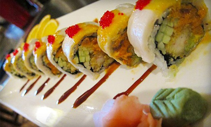 Miyako - Bannerman Crossing shopping C: Sushi and Japanese Cuisine at Miyako (Half Off). Two Options Available.
