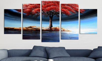 image for Hand-Painted Fine Art, Canvas Art and Wall Art from FabuArt.com (61% Off). Two Options Available.