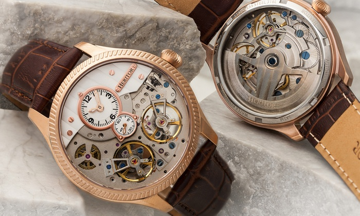 a3757b768 Heritor Automatic Men's Watches Winthrop Collection | Groupon