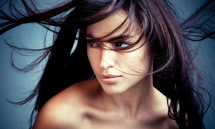 Hair-Repair Treatment Package or Brazilian Blowout at SMS Colour at Salons by JC (Up to 72% Off)
