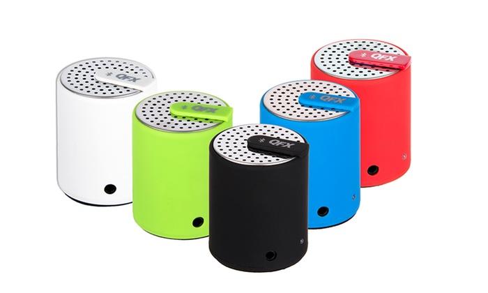 QFX Portable Bluetooth Mini Speaker (CS-27BT): QFX Portable Bluetooth Mini Speaker (CS-27BT). Multiple Colors Available. Free Returns.