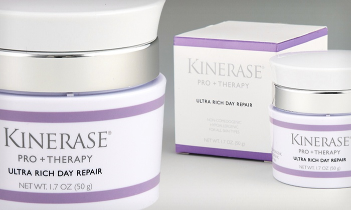 Kinerase Pro+Therapy Skincare: Kinerase Pro+Therapy Anti-Aging Day Cream, Cleanser, or Both. Multiple Options Available from $19.99–$49.99.
