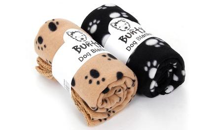 Bunty Warm Fleece Pet Blanket in Choice of Colour for £3.98