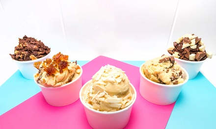 Cookie Dough: Small ($3) or Medium Tub ($4.50) or Two Large Tubs with Two Drinks ($19) at DoughLord (Up to $30 Value)