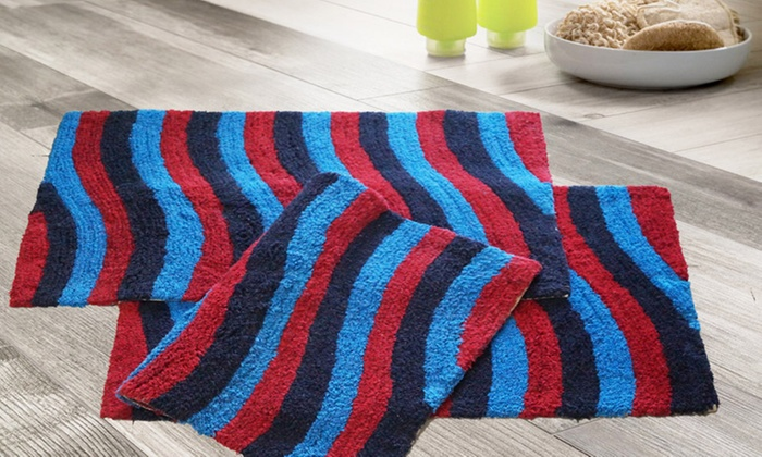 multi colored bathroom rugs multi color bath rugs 3 pk groupon goods 19687