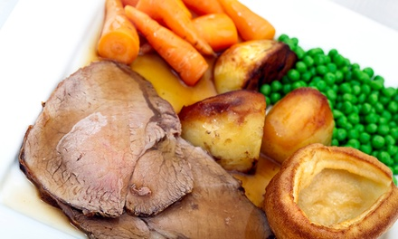 Two-Course Sunday Lunch with a Glass of Wine for Two or Four at Mercure Burton Upon Trent Newton Park (Up to 52% Off)