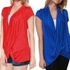Women's Short Sleeve Criss-Cross Top