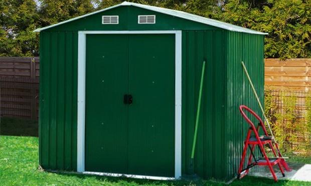 Garden sheds groupon goods for Best deals on garden sheds
