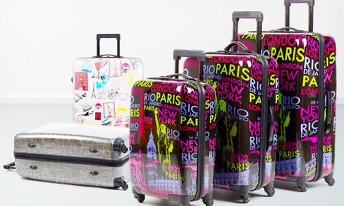 3 teiliges Kofferset aus flexiblem Polycarbonat mit je 4 Leichtlauf Gummirollen für 99 € (48% sparen)