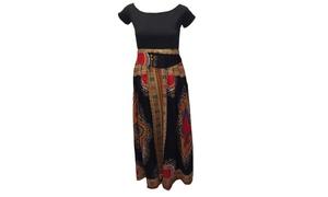 Tribal Printed Black Dress