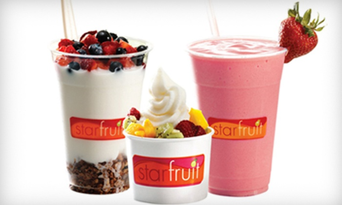 Starfruit - Multiple Locations: $10 for $20 Worth of Frozen Sundaes, Smoothies, and Parfaits at Starfruit