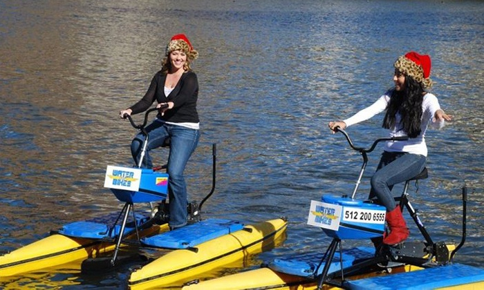 Austin Water Bikes - Hyatt Regency Austin: One-Hour Water-Bike Rental for Two or Four from Austin Water Bikes (Up to 56% Off)