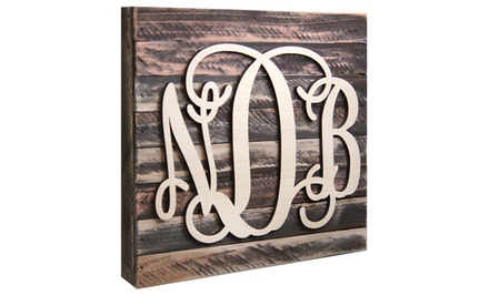 Natural or Painted Monogram Mounted on a 24