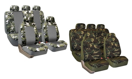 Camouflage Car Seat-Cover Set