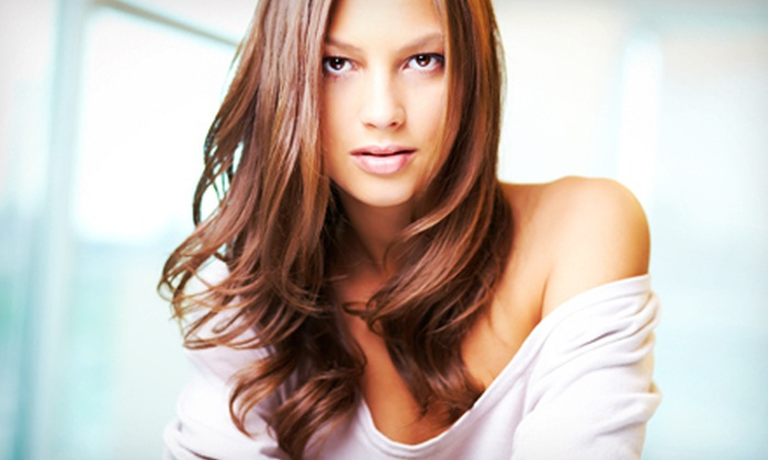 Melissa Popp at Downtown Style - New Albany: Haircut and Style with Optional Highlights and Lowlights from Melissa Popp at Downtown Style (Up to 51% Off)