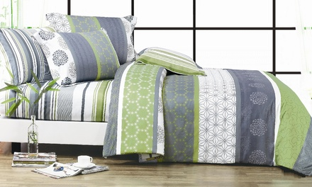 Artistic Cotton Quilt Cover Set in Queen $49 or King $59