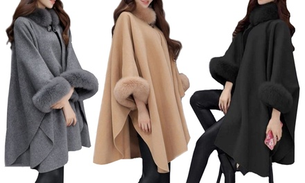 Cape Coat in a Choice of Colour: One $39.95 or Two $75