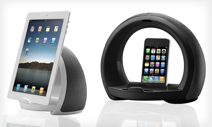 Arc Speaker Dock and Tablet Stand: $19.99 for an Arc Speaker Dock and Tablet Stand in Black or White ($50 List Price). Free Shipping and Returns.
