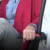 Car Cane Mobility and Standing Aid with Built-In Flashlight