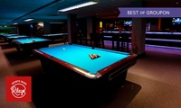 Cheeseburger with Fries and Beer Plus Club Membership and Up to Two Hours of Pool at Rileys Sports Bar (Up to 58% Off)