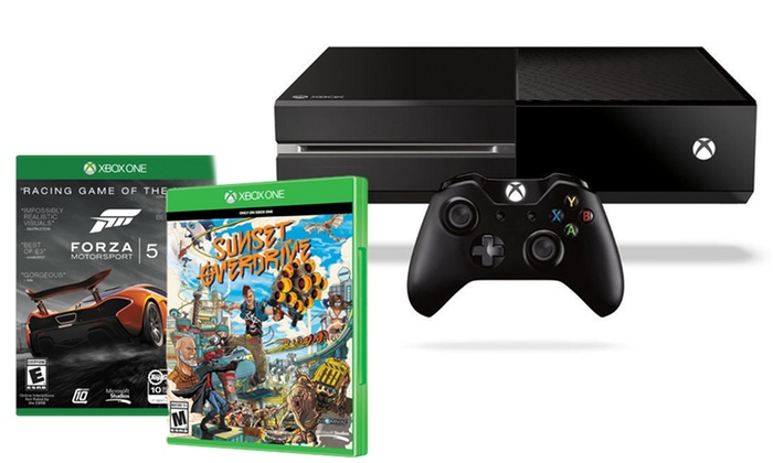 Xbox One Console with Forza 5 and Sunset Overdrive Download