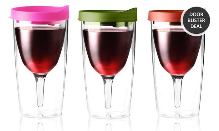 Vino 2 go wine glasses groupon goods Wine glasses to go