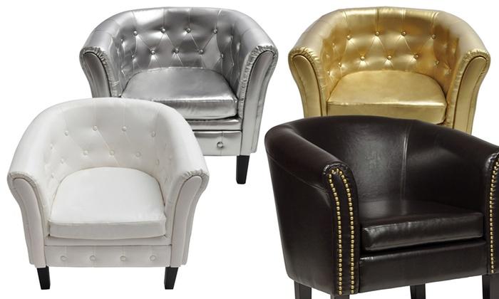 Prime Chesterfield Stoelen En Voetenbankjes Groupon Goods Lamtechconsult Wood Chair Design Ideas Lamtechconsultcom