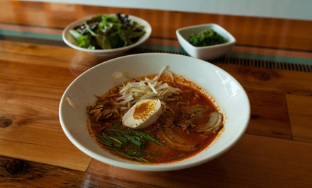 Ramen and Japanese Food for Two or Four on a Weekday or Weekend at Tajima Ramen Bar (Up to 40% Off)