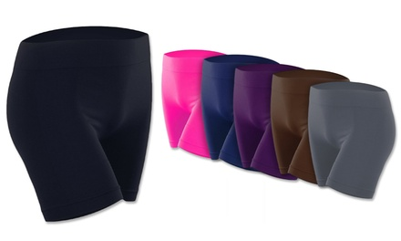 Women's Solid Active Shorts (6-Pack)