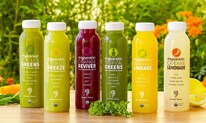 Jamba Juice - Multiple Locations: Three, Six or Nine Bottles of Cold Pressed Juice or Signature Juice Blends at Jamba Juice (Up to 43% Off)