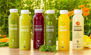 Jamba Juice: Three, Six or Nine Bottles of Cold Pressed Juice or Signature Juice Blends at Jamba Juice (Up to 43% Off)
