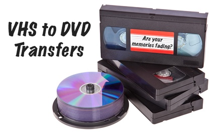 1 Hour of VHS to DVD Transfer from MediaZeus (43% Off)