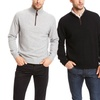 Henry Cashmere Men's 1/4-Zip Suede-Piped Sweater