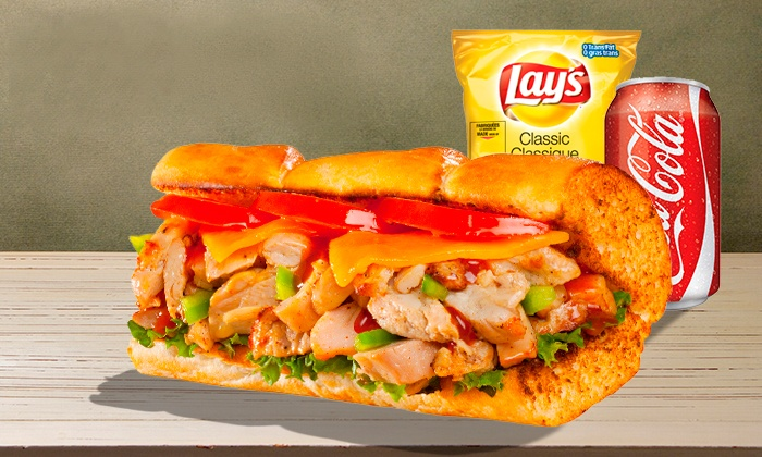 Capt. Submarine - Capt. Submarine: C$11.99 for Two Subs, Chips, and Drinks at Capt'n Sub (C$21.90 Value)