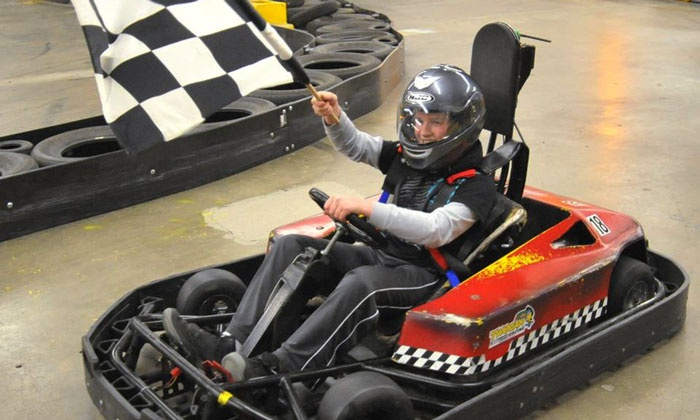 Checkered Flag Indoor Karting - Haverhill: $35 for Two Go-Kart Races for Two People at Checkered Flag Indoor Karting ($60 Value)