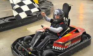Checkered Flag Indoor Karting: $35 for Two Go-Kart Races for Two People at Checkered Flag Indoor Karting ($60 Value)