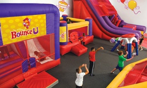 BounceU : Five Open-Bounce Visits or a Private Party for Up to 10 Kids at BounceU in Gilbert (Up to 51% Off)