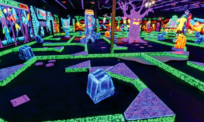 Monster Mini Golf San Antonio - San Antonio: Four Rounds of Miniature Golf or Zombie Party for Up to 13 at Monster Mini Golf (50% Off)