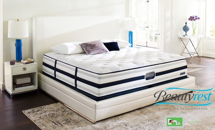 Simmons Beautyrest Recharge World Class Plush Mattress Set. Free White Glove Delivery. 25-Year Warranty.