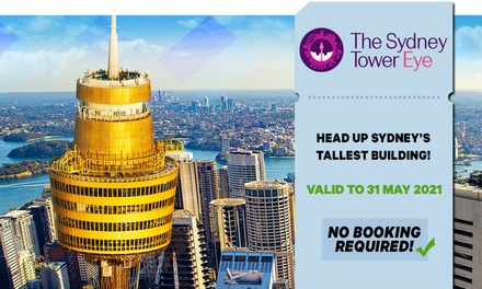 Sydney Tower Eye: Child ($16) or Adult ($23.20) Entry (Up to $29 Value) - Valid till 31st May 2021