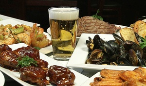 Playoff Sports Bar and Grill: Pub Food and Drinks or Brunch at Playoff Sports Bar and Grill (Up to 48% Off)